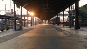 Вокзал Pilsen сток-видео