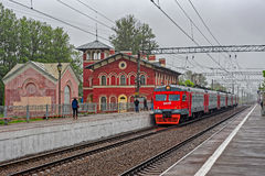 Вокзал Strelna стоковая фотография