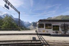 Вокзал Wengen, Швейцария Стоковое фото RF