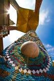 вокруг виска pagoda искусств декоративного Стоковые Изображения RF