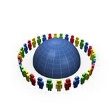 вокруг глобуса общины Стоковое Изображение RF