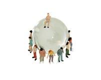 вокруг глобуса разнообразности Стоковое Изображение RF