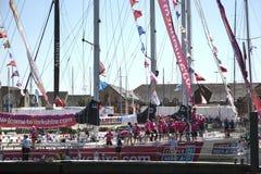 Вокруг гонки яхты мира Стоковое Изображение
