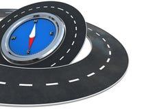 вокруг дороги компаса иллюстрация вектора