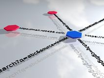 вокруг изображения двигателя облака схематического ключевое слово помечает буквами seo оптимизирования Стоковые Изображения RF