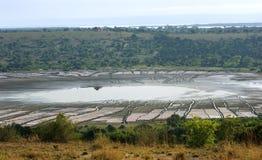 Вокруг канала Kazinga в Африку Стоковая Фотография