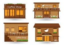 вокруг магазина кофейных чашек фасолей свежего Стоковые Фотографии RF