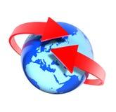 вокруг мира взгляда европы Стоковое Изображение