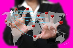 вокруг мира влюбленности Стоковое фото RF