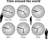 вокруг мира времени дела Стоковое Изображение