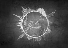 вокруг мира перемещения Мультимедиа Стоковые Изображения RF