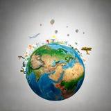 вокруг мира Стоковые Фотографии RF