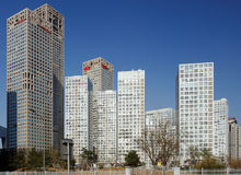 вокруг подъема cbd зданий высокого Стоковая Фотография RF