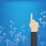 вокруг роста принципиальной схемы предпринимателей дела стрелки гигантского указывая вверх Стоковые Фото