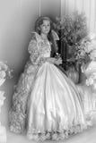 1887 вокруг сбора винограда девушки снятого портретом принятого было молодо Стоковые Фотографии RF