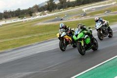 Вокруг чемпионата 3 до 2017 Superbike финансов мотора Yamaha австралийского Стоковое фото RF