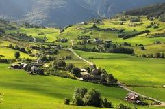 вокруг hardangerfjord Норвегии сельскохозяйствення угодье Стоковое Изображение RF