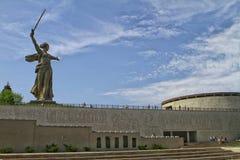 ВОЛГОГРАД, РОССИЯ - 3-ье мая 2017: Военный мемориал холма Mamayev стоковое изображение rf