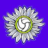 волейбол вектора изображения цветка Стоковая Фотография RF