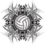 волейбол вектора логоса соплеменный Стоковая Фотография