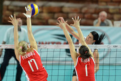 волейбол Венгрии игры Болгарии Стоковые Фотографии RF