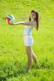 волейбол игрока Стоковые Изображения RF