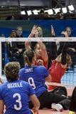 Волейбол 2016 игры Бразилии - Рио-де-Жанейро - Paralympic Стоковое Изображение RF