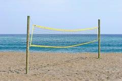 волейбол Испании пляжа сетчатый песочный Стоковая Фотография RF