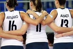 волейбол команды Стоковое Изображение RF
