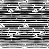 волейбол лета пляжа шарика предпосылки красивейший пустой Картина акварели безшовная Покрашенный рукой троповый мотив лета с флам стоковое фото rf