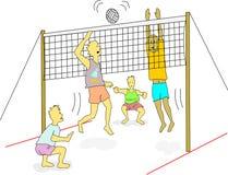 Волейбол пляжа иллюстрация штока