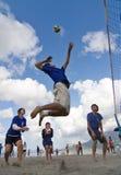 волейбол спайка пляжа Стоковое Изображение RF