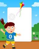 волейбол фото девушки рамки Стоковое фото RF