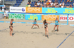 волейбол чемпионата пляжа стоковое фото rf