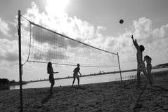 волейбол 9 пляжей Стоковые Фото