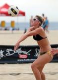 волейбол johnston rachel пляжа установленный Стоковое Изображение