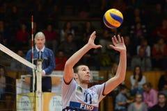 волейбол resovia игры kaposvar Стоковое Изображение RF