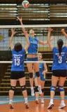 волейбол tatabanya игры kaposvar Стоковая Фотография