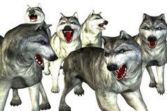волки иллюстрации Стоковое Изображение RF