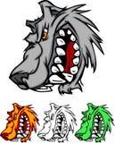 волк вектора талисмана логоса Стоковое Изображение