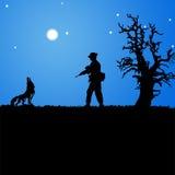 волк охотника Стоковое Фото