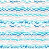 волна абстрактной картины безшовная Стоковое Фото