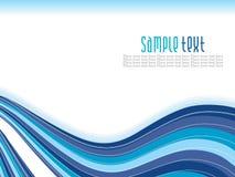 волна абстрактной предпосылки голубая Стоковая Фотография