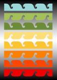 волна вектора конструкции Стоковые Фото