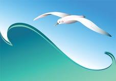 волна вектора чайки Стоковое Изображение RF