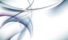 волна вектора элементов знамени предпосылки шикарная Стоковое Изображение RF
