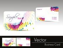 волна визитной карточки предпосылки multicolor Стоковая Фотография