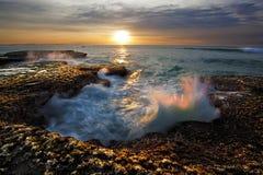 волна восхода солнца Стоковые Изображения
