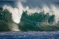волна Гавайских островов огромная Стоковое Фото