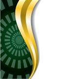 волна золота взрыва зеленая Стоковые Изображения RF